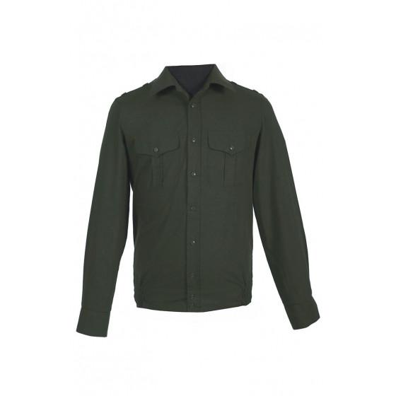 Рубашка офисная, длинный рукав, зеленая
