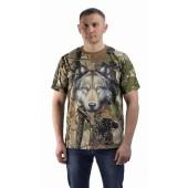 Футболка Волчонок, камуфляж. Мир футболок