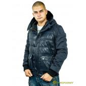 Куртка кожаная МК/17-3К Emora Lagivert