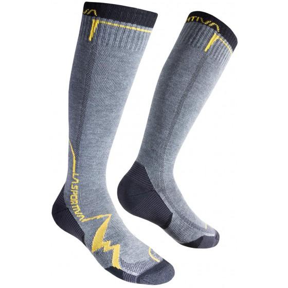 Носки MOUNTAIN SOCKS LONG Grey/Yellow, 29QGY