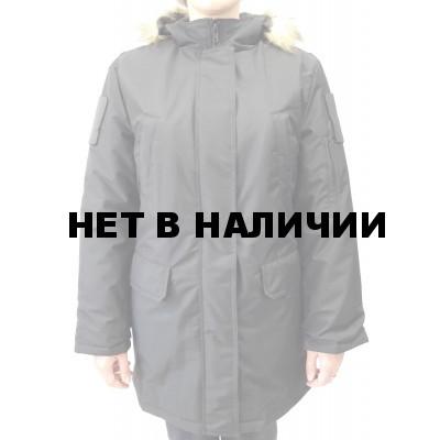 Куртка женская всесезонная МПА-82 (ткань рип-стоп мембрана) черная