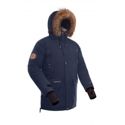Куртка пуховая BASK PUTORANA SOFT синяя тмн