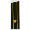 Погоны ВМФ вышитые Капитан 3 ранга повседневные на китель со скосом