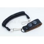 Шнур страховочный карабин-шлевка универсальная черная