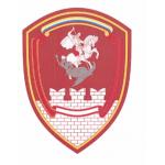 Шеврон Росгвардия Академия Дзержинского (конь-стена) люрекс