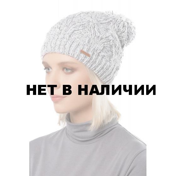 Шапка полушерстянаяmarhatter женская MWH8819/1 серо-белая мулине 036