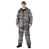 Костюм ТУРИСТ 2 куртка/брюки цвет:, камуфляж Цифра светло-серая, ткань : Твил Пич