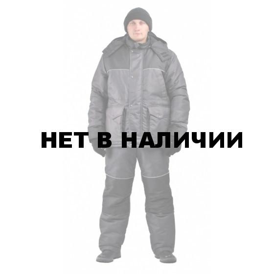 Костюм зимний ВОСХОД-ЛЮКС куртка/полукомб. цвет: т.серый/черный, ткань : Кошачий глаз