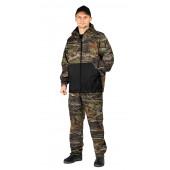 Костюм флисовый ПИКНИК куртка/брюки, цвет:, камуфляж дубовый лес/черный