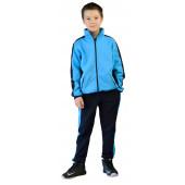 Костюм детский трикотажный ТИгР т.синий с голубым (куртка + брюки 100%х/б)