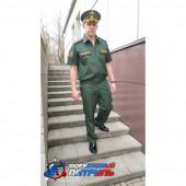 Костюм МО офисный мужской короткий рукав(ткань Патруль Cotton Rich 180 цвет зеленый)