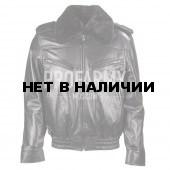 """Куртка кожаная """"Классика"""" с мехом черная"""