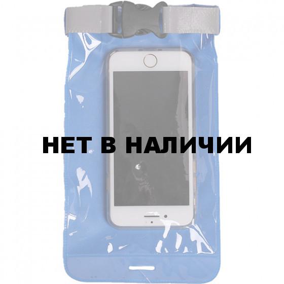 Гермочехол для смартфона и документов ПВХ литой голубой
