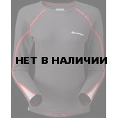 Футболка женская BIONIC L/S ZIP NECK, XL steel/azure, FBLZNSTEX0