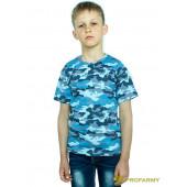 Футболка детская Sky Blue Camo короткий рукав