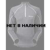 Футболка женская BIONIC L/S ZIP NECK, M steel/azure, FBLZNSTEM0