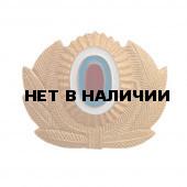 Кокарда МВД большая металлическая золотая ФМ-18