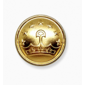 Пуговица Таджикистан с бортиком 14 мм золотая