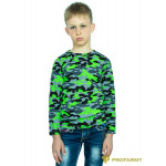 Футболка детская Green Camo длинный рукав