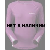 Футболка женская BIONIC L/S ZIP NECK, XS berry/silver, FBLZNBERA0