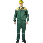 Костюм ЛЕГИОН куртка/полукомбинезон (Т.Зеленый/Желтый)