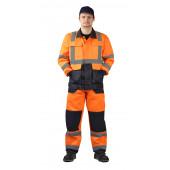 Костюм мужской Альянс летний, сигнальный оранжевый с синим