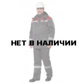 Костюм «Тимбер» утепленный (темно-серый/красный) с полукомбинезоном