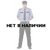 Рубашка охранника, короткий рукав, цвет серо-голубой