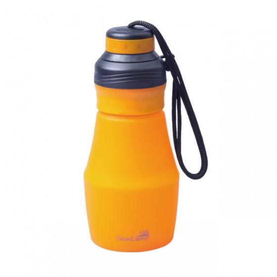 Складная силиконовая бутылка 600 мл. Оранжевый, 1546