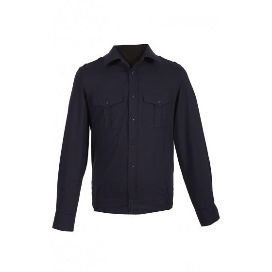 Рубашка офисная ВКС, ВМФ, МО с длинным рукавом