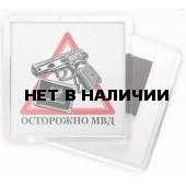 Магнит 179м Осторожно МВД сувенирный