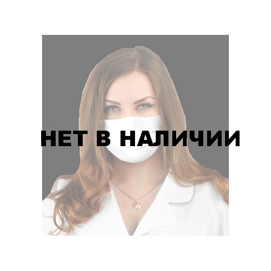 Маска для лица трехслойная цвет: белый, ткань : спанбонд