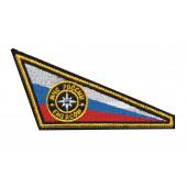 Нашивка на берет Флаг уголок МЧС Emercom вышивка шёлк