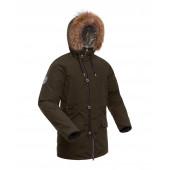 Куртка пуховая мужская BASK MERIDIAN хаки темный
