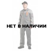 Костюм мужской рабочий Профи с полукомбинезоном серый со светло- серым, ткань Смесовая