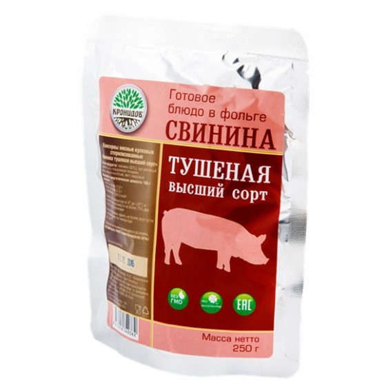 Готовое блюдо Свинина тушеная высш. сорт (Кронидов)