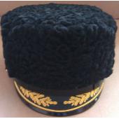 Шапка из каракуля для капитанов I ранга, полковников, адмиралов и генералов ВМФ (с вышивкой)