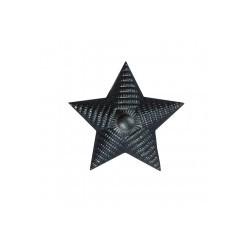 Знак различия Звезда рифлёная большая чёрная металл