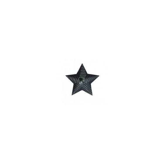 Знак различия Звезда рифлёная малая чёрная металл