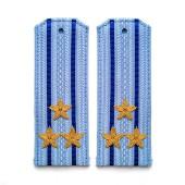 Погоны ФСБ-ФСО вышитые Полковник повседневные на синюю рубашку