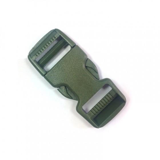 Пряжка фастекс 25 мм 1-15000/1-15317 (2 части) две регулировки оливковый Duraflex