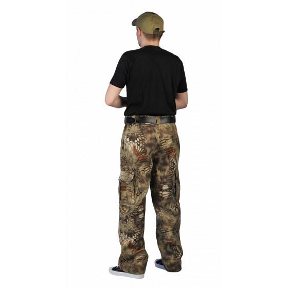 Брюки мужские Захват, камуфляж, ткань Грета Питон зеленый