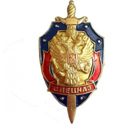 Нагрудный знак Спецназ щит меч герб металл