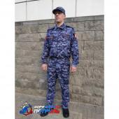 Костюм РОСГВАРДИЯ офисный длинный рукав(цвет синяя точка, Peach effect)