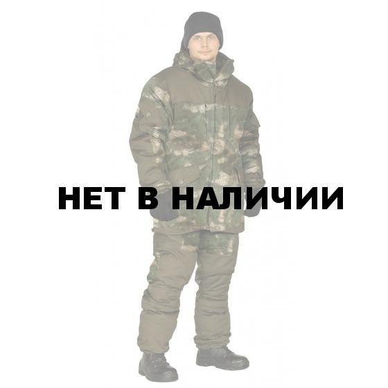 Костюм демисезонный ГОРКА 3 куртка/брюки, цвет:, камуфляж атака зеленый/темный хаки, тк: Рип-Стоп/Грета