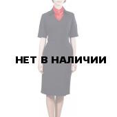 Платье Полиция, короткий рукав, габардин