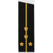 Погоны ВМФ вышитые Капитан-лейтенант повседневные на китель со скосом