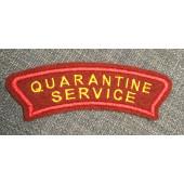 Нашивка на рукав Роспотребнадзор QUARANTINE SERVICE вышивка люрекс