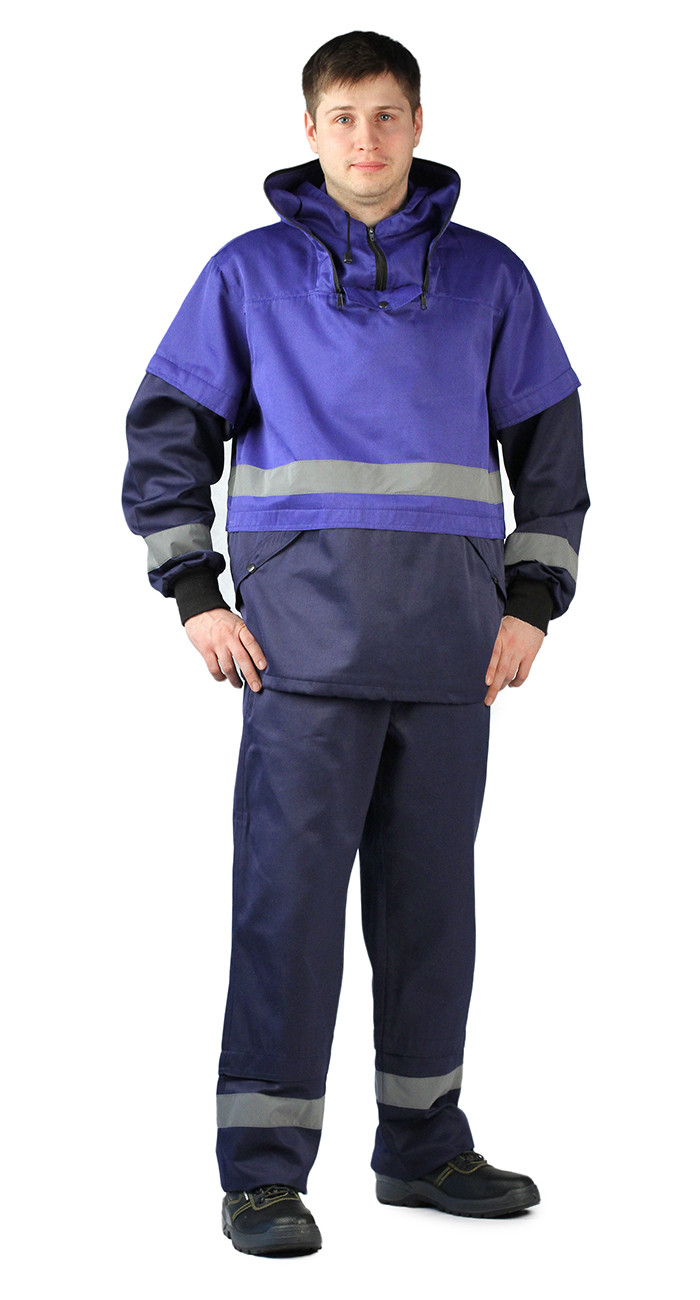 822c8ab23d19 Костюм противоэнцефалитный темно-синий/василек куртка/брюки ...