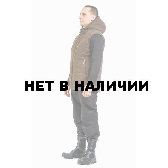 """Жилет утепленный цвет """"BROWN"""", 100% полиэстер (Финляндия)"""